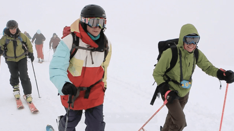 skinning Cardrona backcountry ski touring Mission WOW women