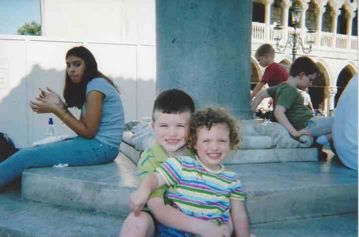 Ian (7) and Caylie (2) in Epcot