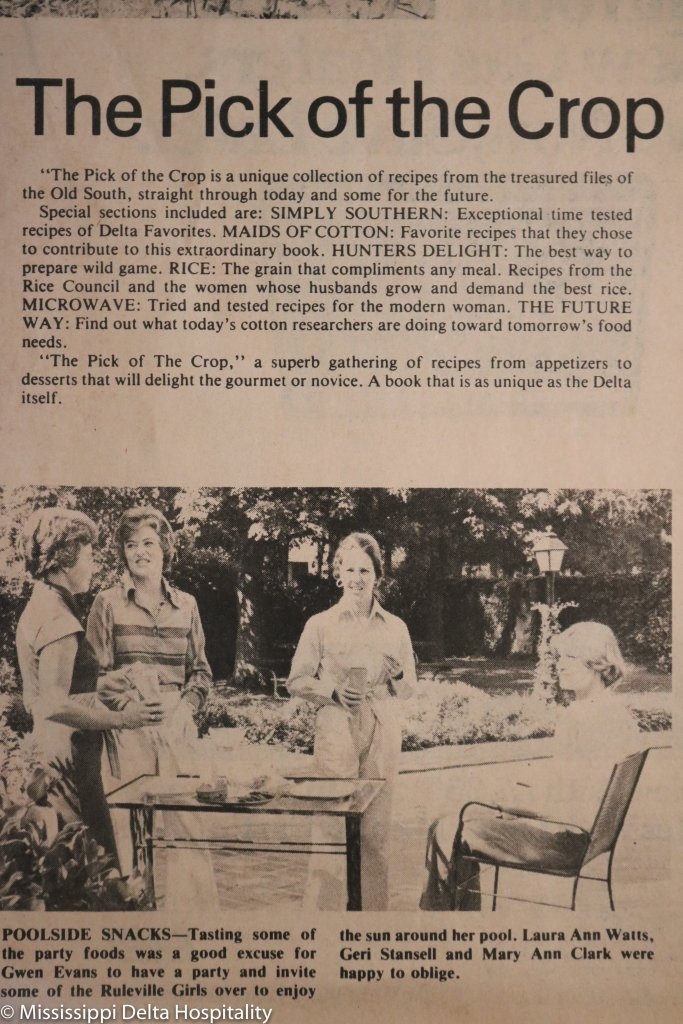 newspaper clipping from the pick of the crop cookbook
