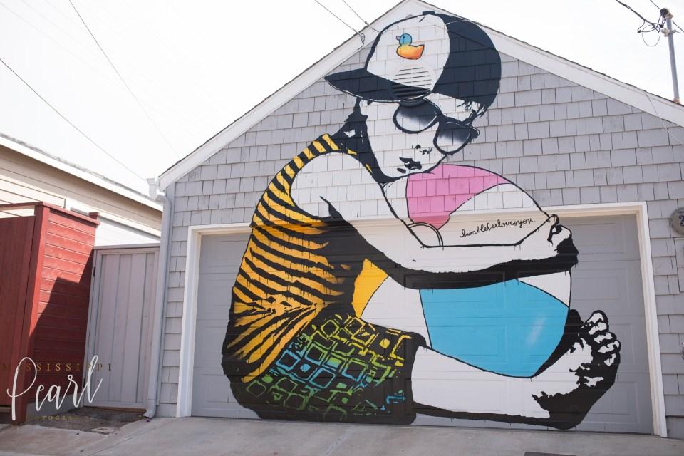 Venice Beach Garage Door art