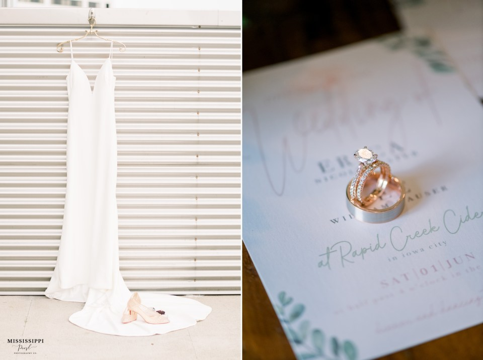 Louis Vuitton wedding shoes and wedding dress