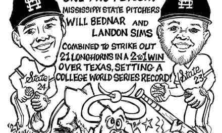 MSU Pitchers set College world series record in game 1 Cartoon – By Ricky Nobile