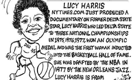 Lucy Harris – Queen of Basketball Cartoon – By Ricky Nobile