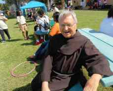 Fr. Cam was our official Festival welcoming committee of one.