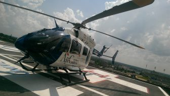 A University of Mississippi Medical Center helicopter that is deployed during natural disasters and other emergency events.