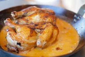 Lemon butter chicken prepared by students at the Farmer's Table Cooking School in Livingston.