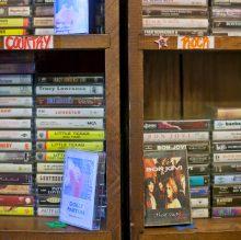 Vintage cassettes span various genres.