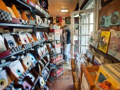 Merchandise at the Little Big Store includes vinyl records, cassettes, CDs, T-shirts, comic books, magazines, jewelry and posters.