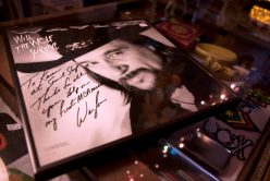 The Little Big Store has an eclectic variety of merchandise, including autographed vinyl records like this one from country musician Waylon Jennings.