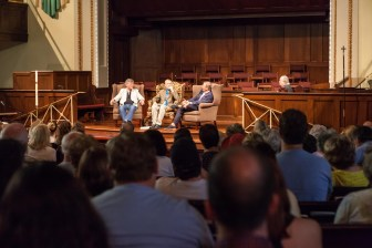 Mississippi authors Bill Ferris, Jerry Mitchell and John Grisham discuss books at the 2015 Mississippi Book Festival.