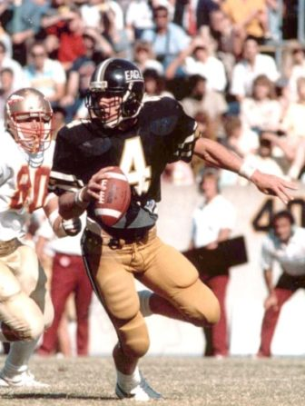 Brett Favre first wore is now iconic No. 4 jersey at the University of Southern Mississippi.