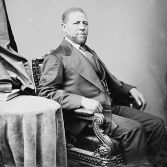 Hiram Rhodes Revels was the first African American to serve in the U.S. Congress.