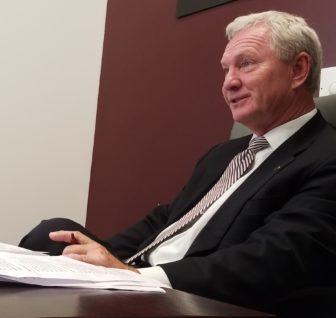 Glenn McCullough, executive director of the Mississippi Development Authority, spent time this week advising student entrepreneurs at Mississippi State University.
