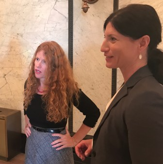 Sharon Stills (left) and Katherine Anderson are both naturopathic doctors, licensed to practice in other states. They spoke on Wednesday before the senate committee on public welfare to advocate for a way of licensing naturopathic doctors in the state.