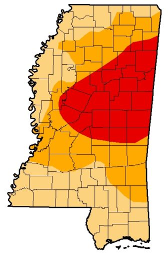 According to the United States Drought Monitor, as of Nov. 3 the entire state was in drought conditions, with extreme drought areas indicated in red and severe drought in gold.