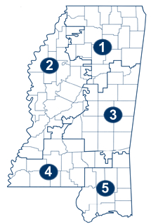 Map of Court of Appeals Districts