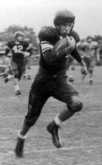 Harper Davis carries the ball for Mississippi State University.