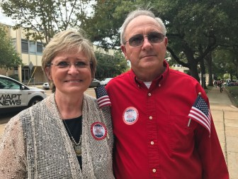 Betty and Wilbur McCurdy traveled from Morton for the prayer rally at the State Capitol Monday.