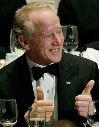 National Football Foundation and College Football Hall of Fame Chairman Archie Manning gives two thumbs up at the 2010 College Football Hall of Fame awards dinner in New York.