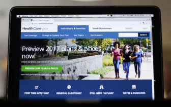 This image shows the HealthCare.gov 2017 web site home page. President-elect Donald Trump says he favors eliminating President Obamas Affordable Health Care Act.