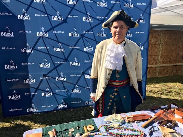 Biloxi historian Edmond Boudroux channels Pierre Le Moyne, Sieur d'Iberville, founder of Biloxi.