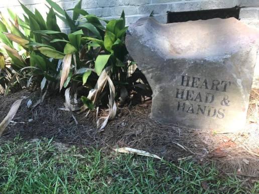 """""""Head, Heart & Hands"""" is the school's motto."""
