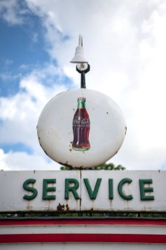 Iconic service station signage at Dockery Farms