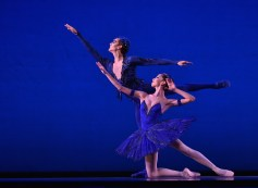 Junior competitor Romina Contreras and Sebastian Vinet, both of Chile, perform Sleeping Beauty, Pas de Deux, Princess Florine and Blue Bird in Road 1 of the 2014 USA IBC. Contreras won a special Jury Award of Encouragement.