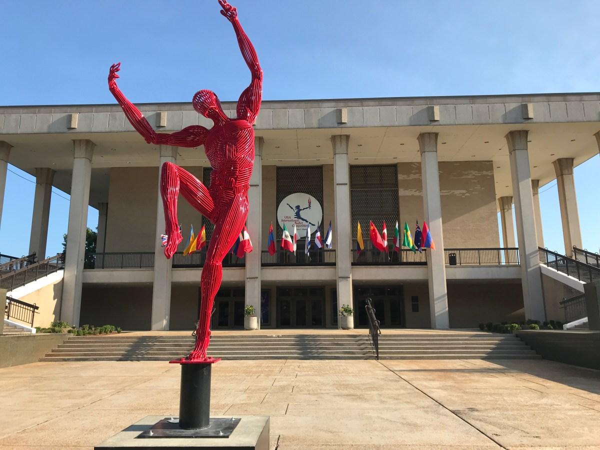 sculpture at IBC entrance