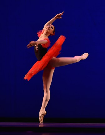 Ballet dancer competing in IBC