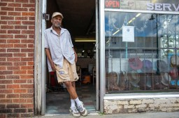 "Tony ""Dr. Shoemaker"" Brothers is photographed outside of his family's business, Dennis Brothers Shoe Repair Service, in the 300 block of Farish Street in Jackson Wednesday, June 27, 2018. ""New Orleans' Bourbon Street couldn't compare to Farish Street back in the days, "" said Brothers."