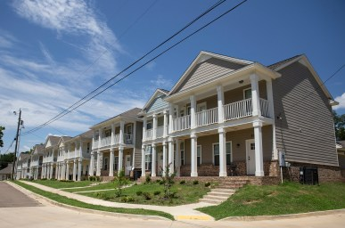 Townhomes in the Farish Street Historic District are photographed Friday June 29, 2018. The homes are rented to low income residents. The homes benefit from a Mississippi Home Corporation tax credit.
