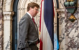 Mississippi Lt. Gov. Tate Reeves during a special session of the Legislature at the Capitol in Jackson Friday, August 24, 2018.