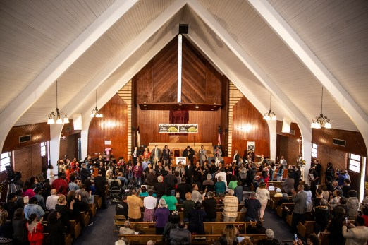 Greater Mt. Calvary Baptist Church is filled with church members and supporters during a Poor People's Campaign event at Greater Mt. Calvary Baptist Church Wednesday, October 24 in Jackson.