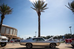 A 1969 Pontiac GTO Judge is parked near the Mississippi Coast Coliseum and Convention Center during the 22nd Annual Cruisin' The Coast Thursday, October 4, 2018.