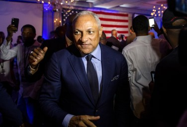 Mike Espy leaves his watch party after speaking to supporters at the Hilton Jackson on County Line Road Tuesday, November 6, 2018. Espy will be in a run-off election with Republican interim Sen. Cindy Hyde-Smith.