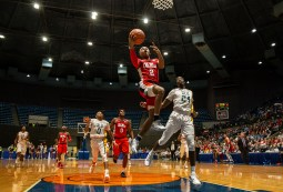 Ole Miss' Devontae Shuler goes up for a shot during their game against Southeastern Louisiana at the Mississippi Coliseum Wednesday, December 12, 2018.