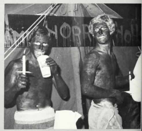 The 1979 Mississippi State University yearbook shows members of the Phi Gamma Delta fraternity with darkened skin. No caption or further explanation was published.