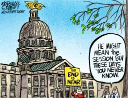 As the state budget is being hammered out, all signs point to Sine Die.