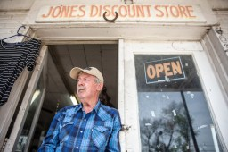 Travis Jones is photographed at his thrift store Thursday, April 11, 2019 in Belzoni, Miss.