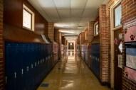 One of the hallways inside of Leland High School.
