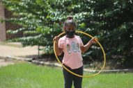 Rachel, a Jackson Public Schools student who attends the Boys and Girls Club Walker unit during the day, hula hoops after completing her schoolwork on the computer on Sept. 14, 2020. The Club provides a place for working parents to send their kids now that JPS has closed its schools due to the COVID-19 pandemic.