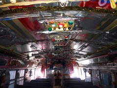 A look inside a school bus Reverend Dennis converted into a worship sanctuary.