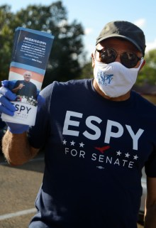 Democratic U.S. Senate challenger Mike Espy canvassed the Valley North subdivision on Oct. 23, meeting residents, passing out flyers and putting up campaign signs.