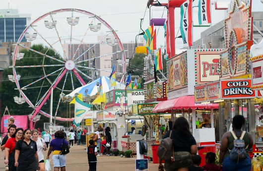 The day was overcast, and rain visited now and then on the second day of the 161st Mississippi State Fair.