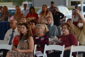 Republican supporters in attendance at a speaking event hosted by the Madison County Republican Women, the Rankin County Republican Women and the Hinds County Republican Women, Wednesday evening at The Range in Gluckstadt. Speakers at the event were Republican Sen. Cindy Hyde-Smith, U.S. Congressman Michael Guest and Mississippi Supreme Court Justice Kenny Griffis.