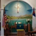 York Community Church interior
