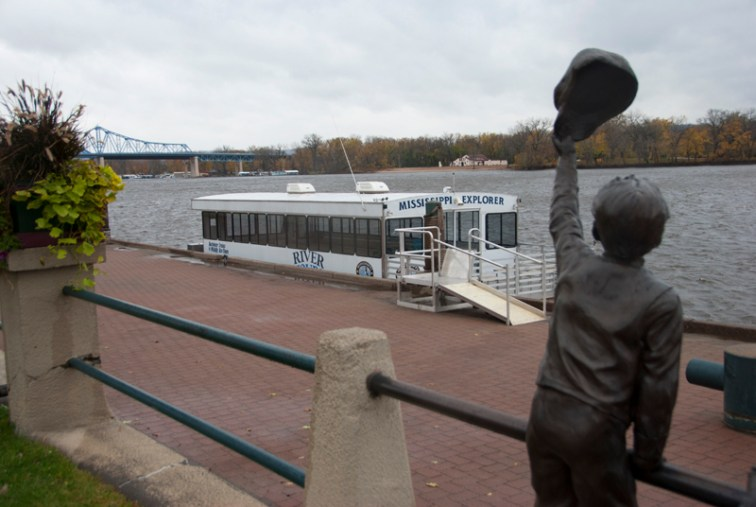 River boats dock at the La Crosse riverfront
