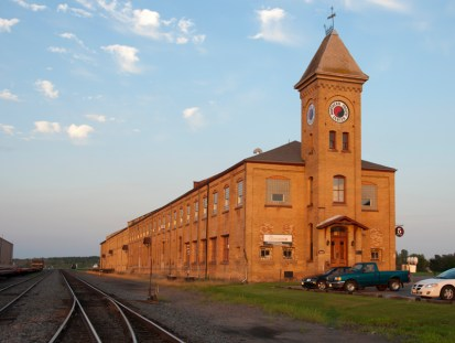 The old railroad yard in Brainerd
