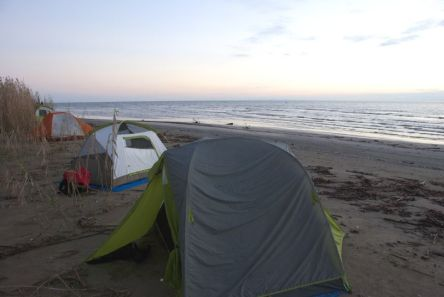 Camping at the Gulf of Mexico
